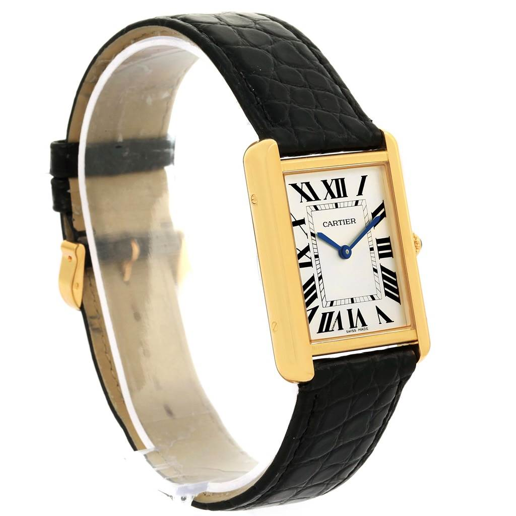 13998 Cartier Tank Solo 18k Yellow Gold Steel Unisex Watch W1018855 SwissWatchExpo