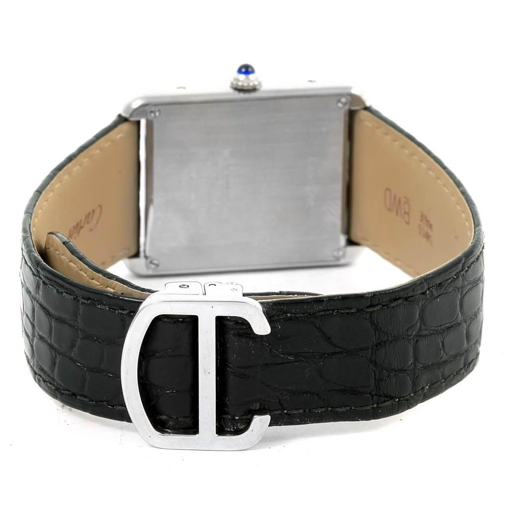 14912 Cartier Tank Solo Large Steel Silver Dial Quartz Watch W1018355 SwissWatchExpo