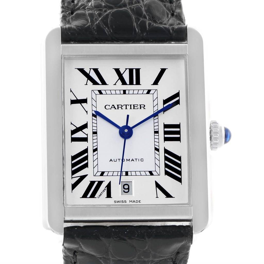 15151 Cartier Tank Solo XL Automatic Silver Dial Mens Watch W5200027 SwissWatchExpo