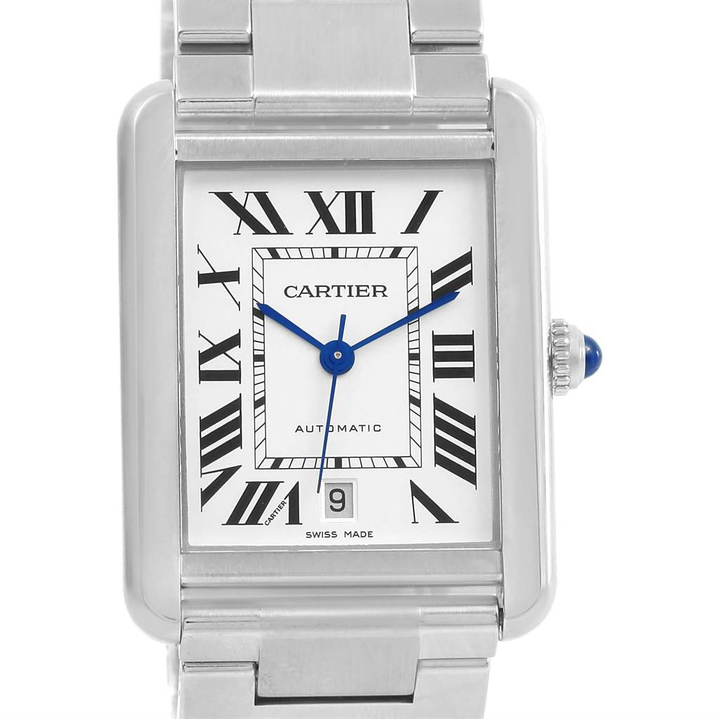 14578 Cartier Tank Solo XL Automatic Silver Dial Mens Watch W5200028 SwissWatchExpo