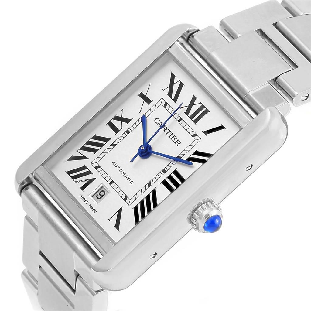 16441 Cartier Tank Solo XL Silver Dial Steel Bracelet Mens Watch W5200028 SwissWatchExpo
