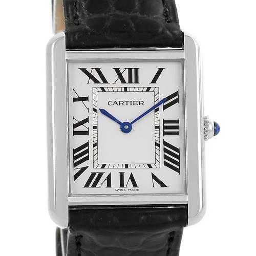 Photo of Cartier Tank Solo Steel Silver Dial Unisex Watch W1018355