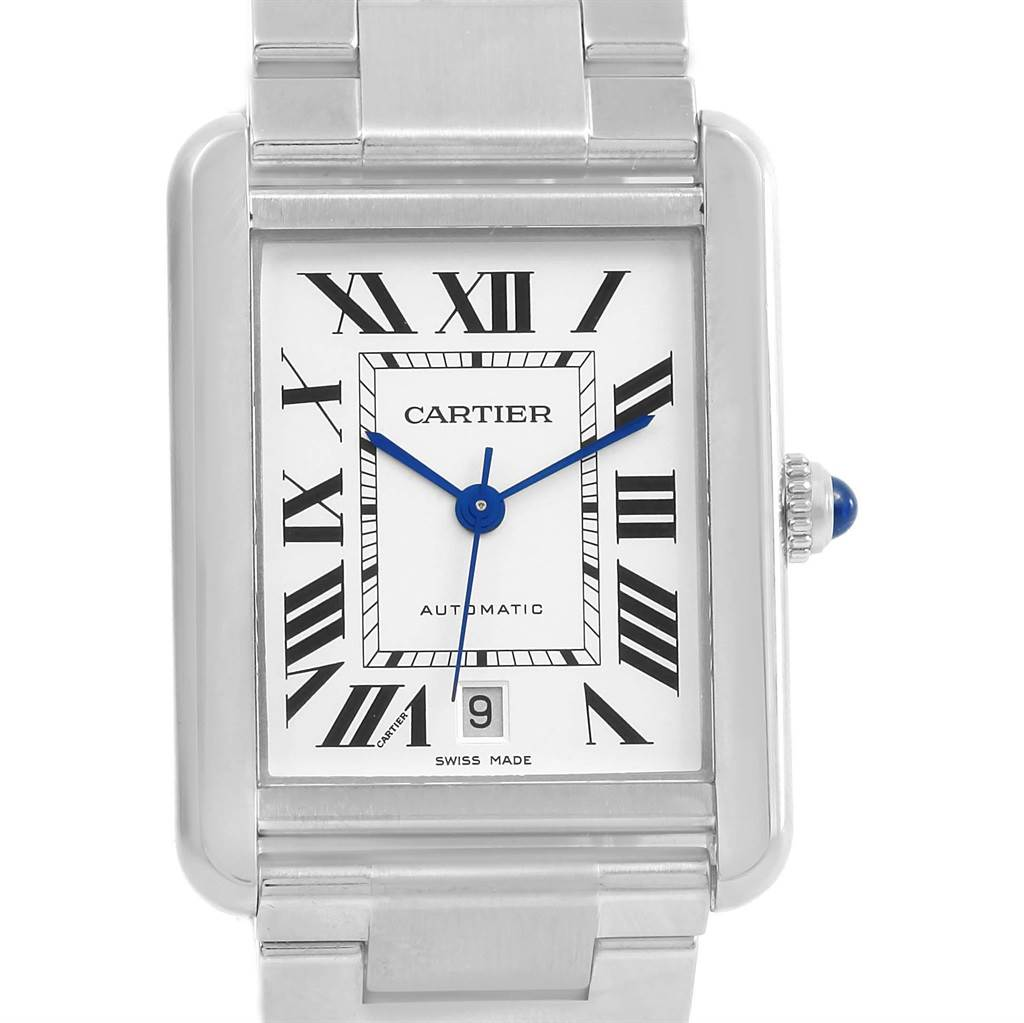 21024 Cartier Tank Solo XL Automatic Steel Mens Watch W5200028 Box Papers SwissWatchExpo