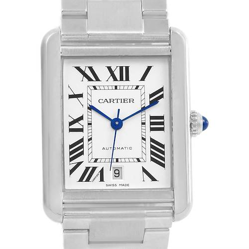 Photo of Cartier Tank Solo XL Automatic Steel Mens Watch W5200028 Box Papers