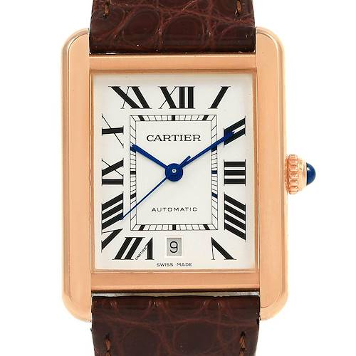 Photo of Cartier Tank Solo XL Rose Gold Steel Mens Watch W5200026