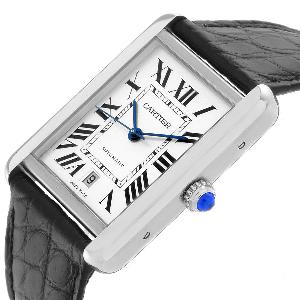 23219 Cartier Tank Solo XL Automatic Date Stainless Steel Mens Watch W5200027 SwissWatchExpo