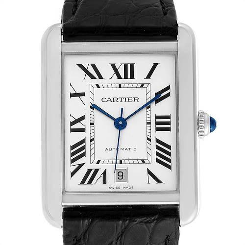 Photo of Cartier Tank Solo XL Automatic Date Stainless Steel Mens Watch W5200027