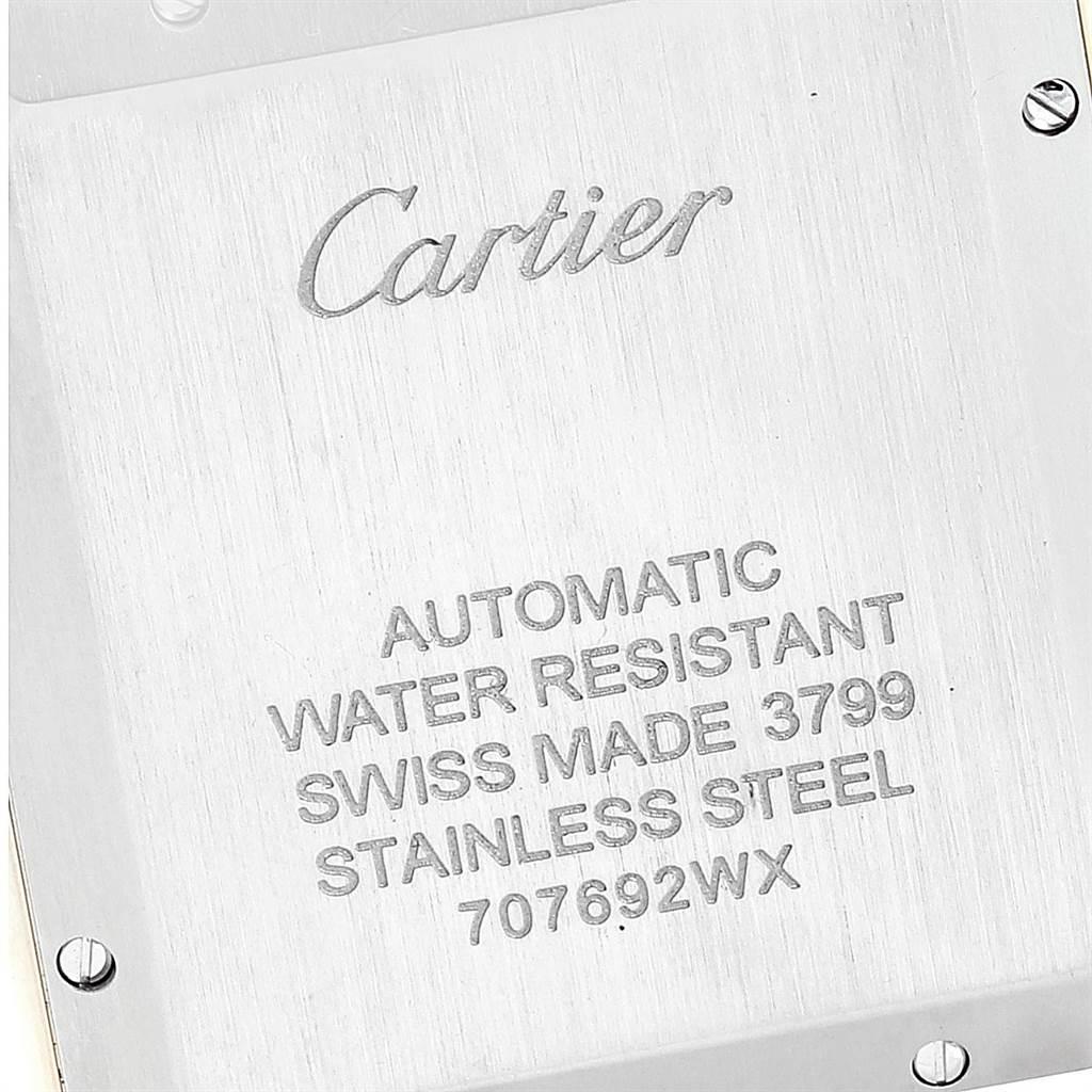 Cartier Tank Solo XL Rose Gold Steel Silver Dial Mens Watch W5200026 SwissWatchExpo