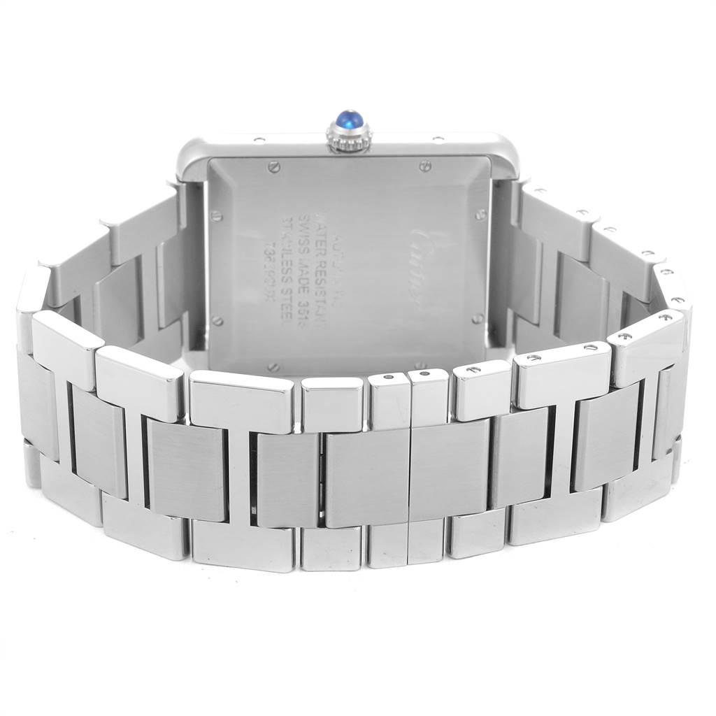 25052 Cartier Tank Solo XL Silver Dial Steel Mens Watch W5200028 SwissWatchExpo