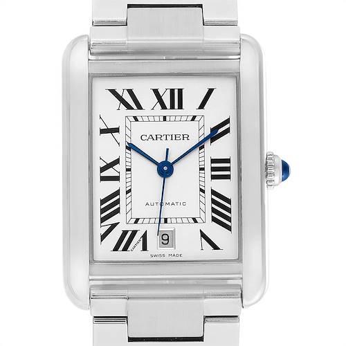 Photo of Cartier Tank Solo XL Silver Dial Steel Mens Watch W5200028