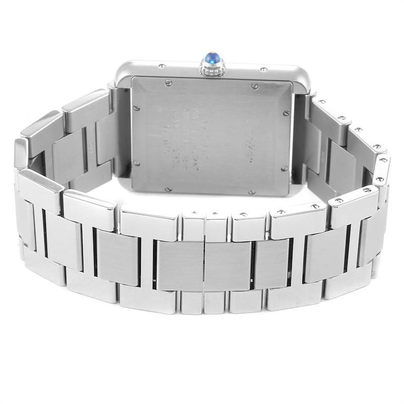 Cartier Tank Solo XL Silver Dial Steel Mens Watch W5200028 SwissWatchExpo