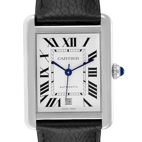 Photo of Cartier Tank Solo XL Automatic Steel Mens Watch W5200027 Box Card D.Pauley only