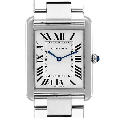 Photo of Cartier Tank Solo Silver Dial Steel Mens Watch W5200014