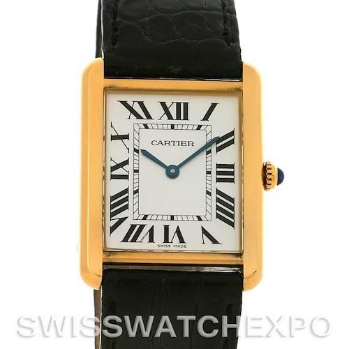 Photo of Cartier Tank Solo Mens Steel Gold Watch W1018855