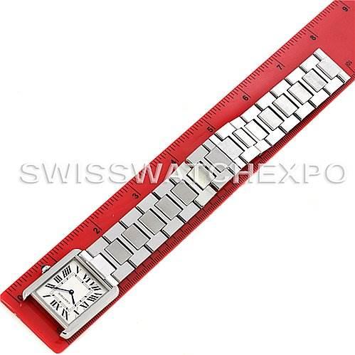 2973 Cartier Tank Solo Large Steel Watch W5200014 SwissWatchExpo