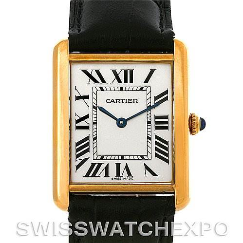 4224 Cartier Tank Solo 18kt Yellow Gold Mens Watch W1018855 SwissWatchExpo