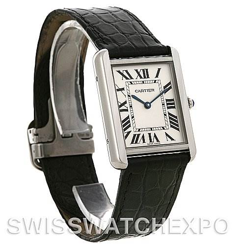 4234 Cartier Tank Solo Large Steel Watch W1018355 SwissWatchExpo