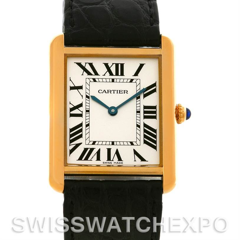 4421 Cartier Tank Solo 18kt Yellow Gold Mens Watch W1018855 SwissWatchExpo