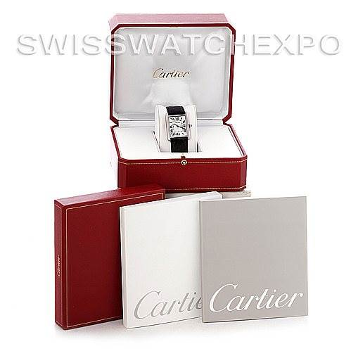 4632 Cartier Tank Solo Large Steel Watch W1018355 SwissWatchExpo