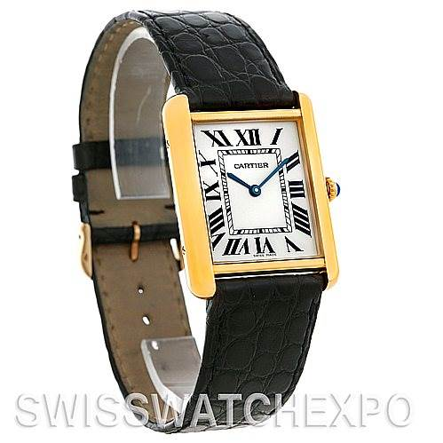 4822 Cartier Tank Solo 18kt Yellow Gold Mens Watch W1018855 SwissWatchExpo