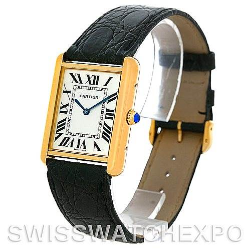 4805 Cartier Tank Solo 18kt Yellow Gold Mens Watch W1018855 SwissWatchExpo