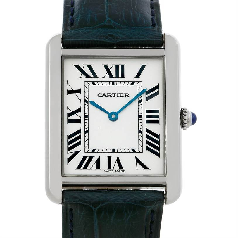 5267 Cartier Tank Solo Large Steel Watch W1018355 SwissWatchExpo