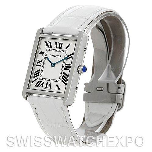 5312 Cartier Tank Solo Large Steel Watch W1018355 SwissWatchExpo