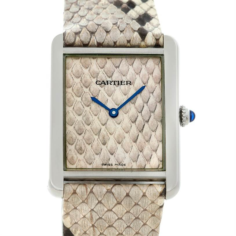 5322 Cartier Tank Solo Large Steel Python Watch W5200021 SwissWatchExpo