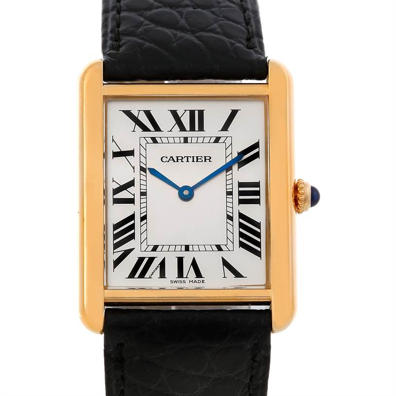 5337 Cartier Tank Solo 18kt Yellow Gold Mens Watch W1018855 SwissWatchExpo