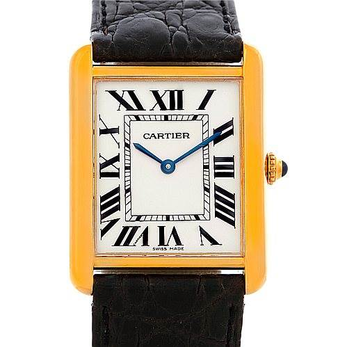 5210 Cartier Tank Solo 18kt Yellow Gold Mens Watch W1018855 SwissWatchExpo