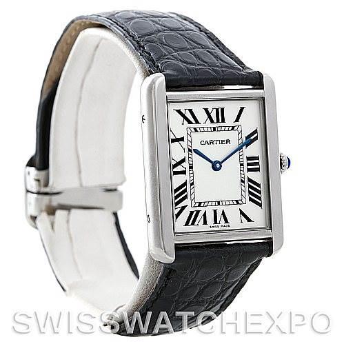5505 Cartier Tank Solo Large Steel Watch W1018355 SwissWatchExpo