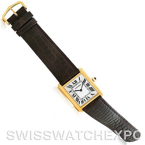 5655 Cartier Tank Solo 18kt Yellow Gold Mens Watch W1018855 SwissWatchExpo