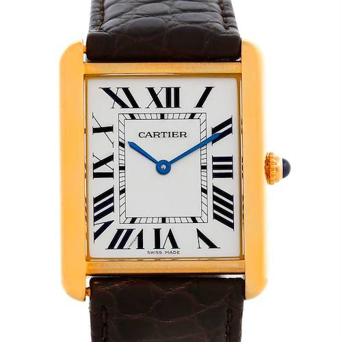Photo of Cartier Tank Solo 18kt Yellow Gold Mens Watch W1018855