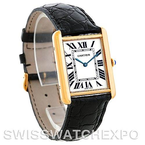 5716 Cartier Tank Solo 18kt Yellow Gold Mens Watch W1018855 SwissWatchExpo