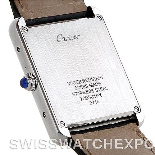 5735 Cartier Tank Solo Large Steel Watch W1018355 SwissWatchExpo