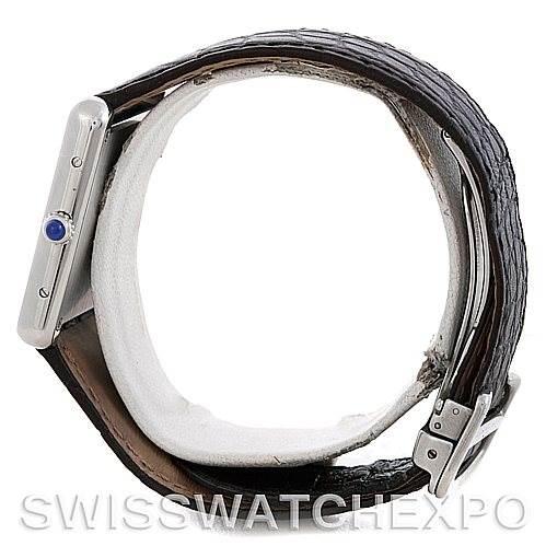 5870 Cartier Tank Solo Large Steel Watch W1018355 SwissWatchExpo