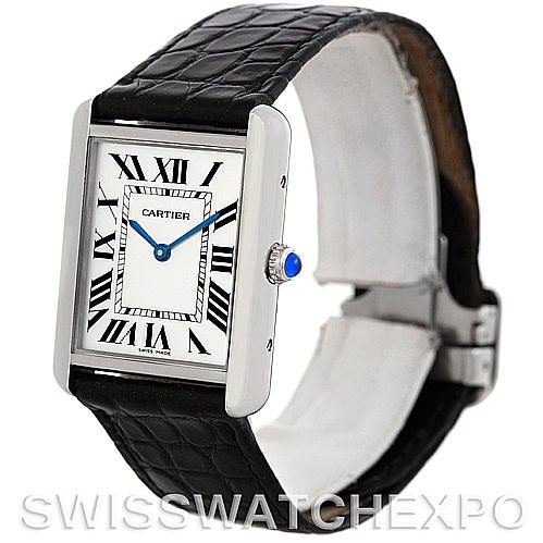 4806 Cartier Tank Solo Large Steel Watch W1018355 SwissWatchExpo