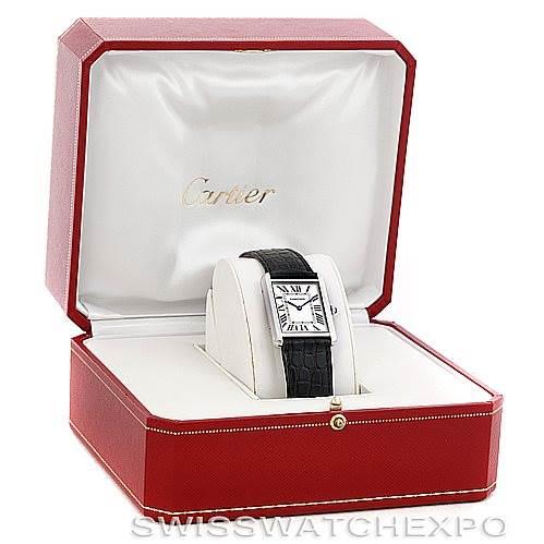 6078 Cartier Tank Solo Large Steel Watch W1018355 SwissWatchExpo