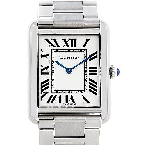 6271 Cartier Tank Solo Large Steel Watch W5200014 SwissWatchExpo