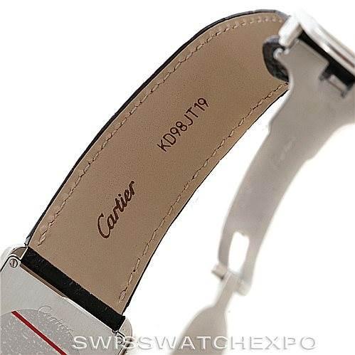 6335 Cartier Tank Solo Large Steel Watch W1018355 SwissWatchExpo