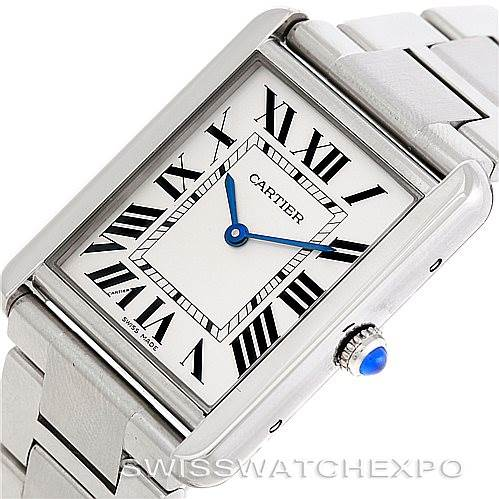 6927 Cartier Tank Solo Large Steel Watch W5200014 SwissWatchExpo