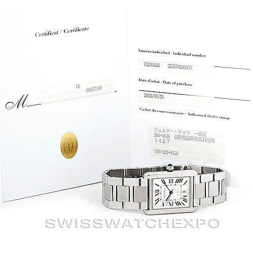 7042 Cartier Tank Solo XL Automatic Mens Watch W5200028 Unworn SwissWatchExpo