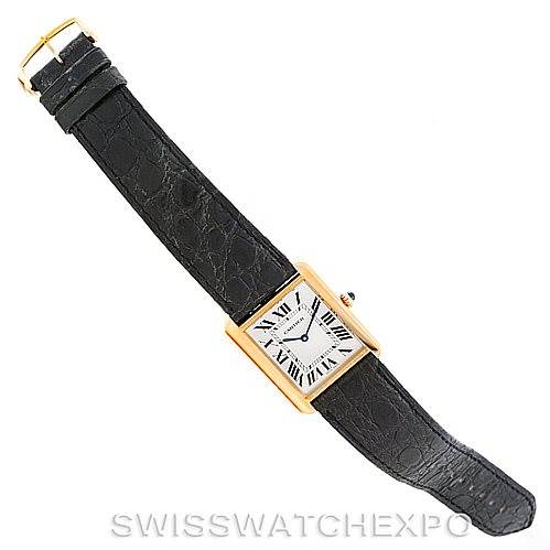 7103 Cartier Tank Solo 18k Yellow Gold Mens Watch W1018855 SwissWatchExpo
