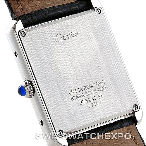 7149 Cartier Tank Solo Large Steel Watch W1018355 SwissWatchExpo