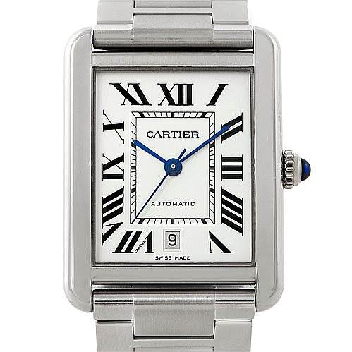 7664 Cartier Tank Solo XL Automatic Mens Watch W5200028 SwissWatchExpo