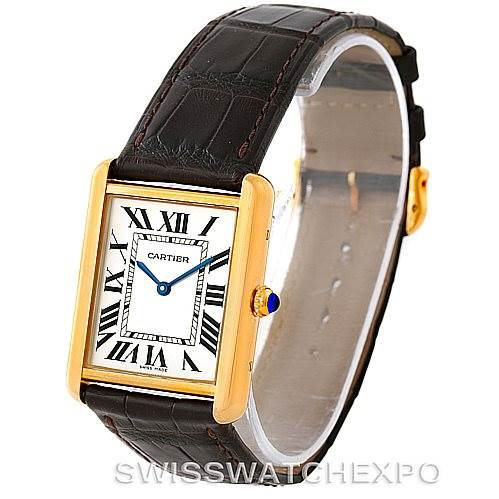 7927 Cartier Tank Solo 18k Yellow Gold Large Watch W1018855 SwissWatchExpo