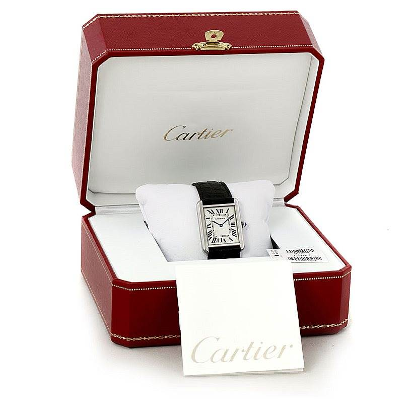 8102 Cartier Tank Solo Large Steel Watch W1018355 SwissWatchExpo