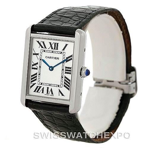 8240 Cartier Tank Solo Large Steel Watch W1018355 SwissWatchExpo