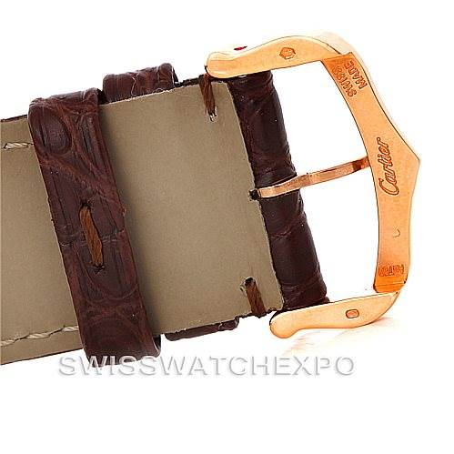 8336 Cartier Tank Solo XL Rose Gold Steel Mens Watch W5200026 Unworn SwissWatchExpo