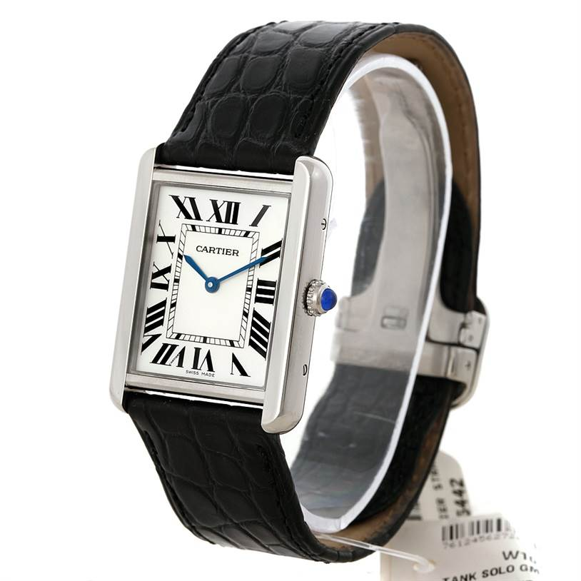 8347 Cartier Tank Solo Large Steel Watch W1018355 Unworn SwissWatchExpo